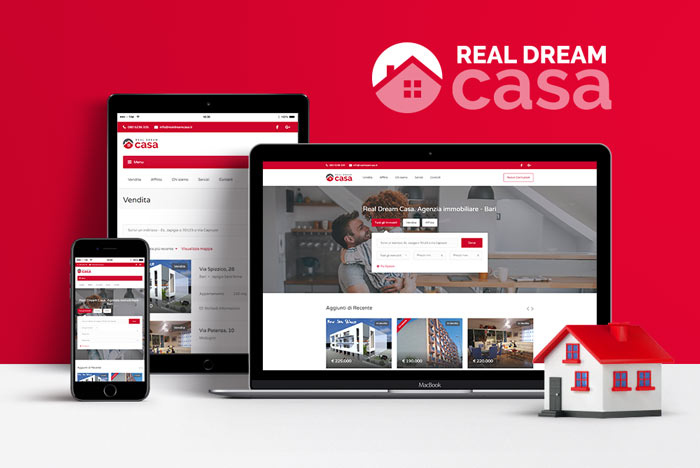 Brand identity e sito web Real Dream Casa
